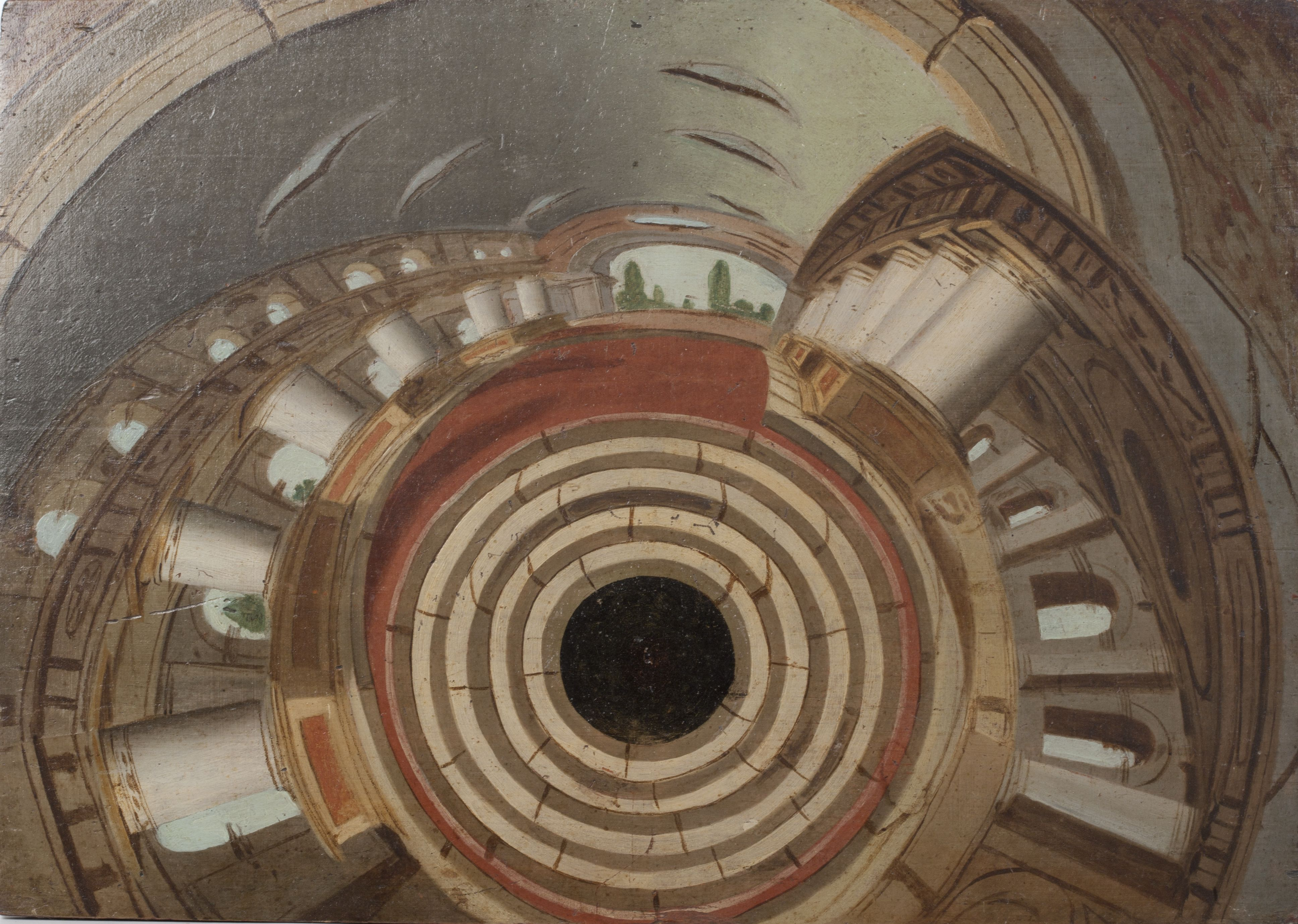 Dipinti anamorfici per specchio cilindrico dipartimento - Stereoscopio a specchi ...