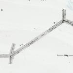 Traccia di particelle K in un'emulsione nucleare, Padova, 1950-60