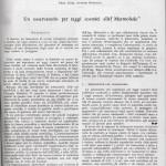 Articolo del prof. Antonio Rostagni sugli esperimenti al Passo Fedaia, 1950- Pag.1