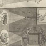 Proiezione con la la lanterna magica e il microscopio solare, Nollet, 1743-1764